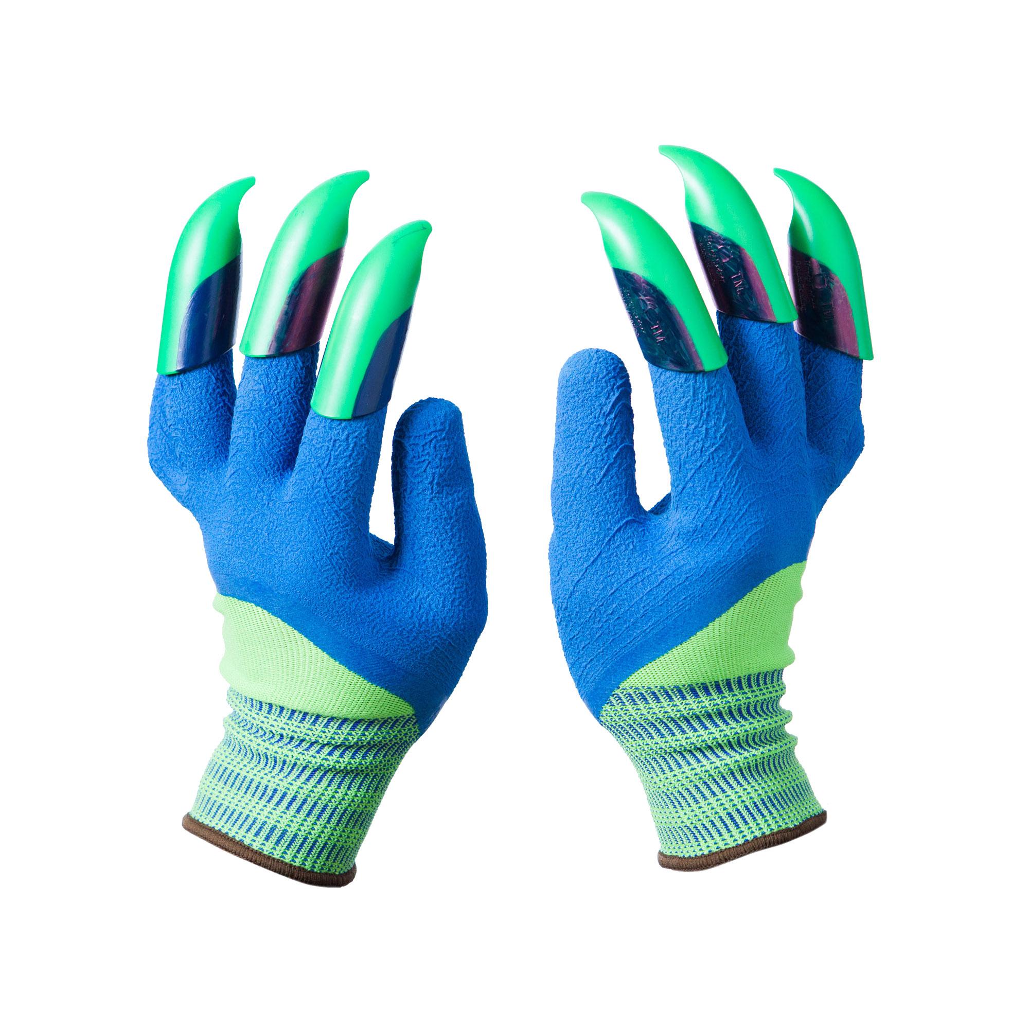Green Blue Claws Honey Badger Gloves