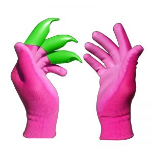 Pink Honey Badger Garden Digging Gloves