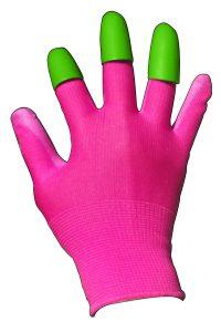 Pink Honey Badger Garden Digging Gloves